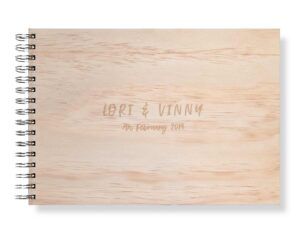 Large wedding guest book