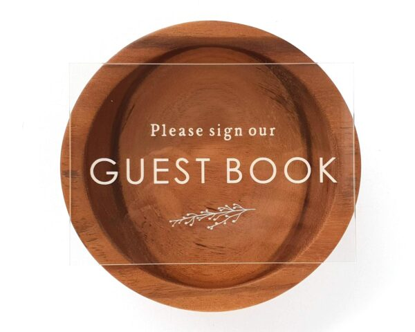 clear guest book sign