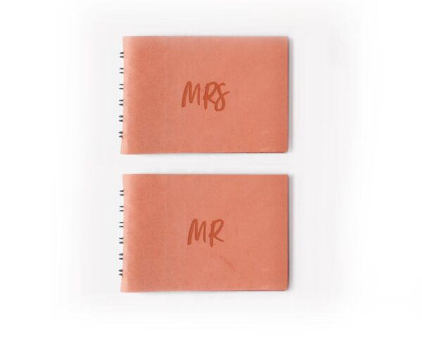 mr-and-mrs-leather-vow-books-coral-pink