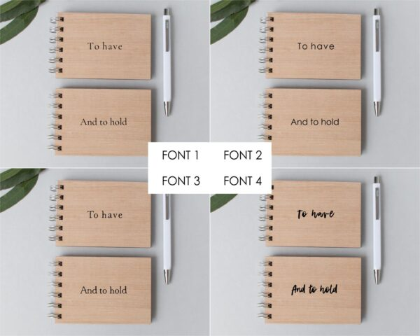 to have and to hold vow book set